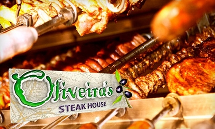 Oliveira's Steakhouse - Multiple Locations: $25 for $50 Towards a Rodizio-Style Meal at Oliveira's Steakhouse.  Choose from Three Locations.