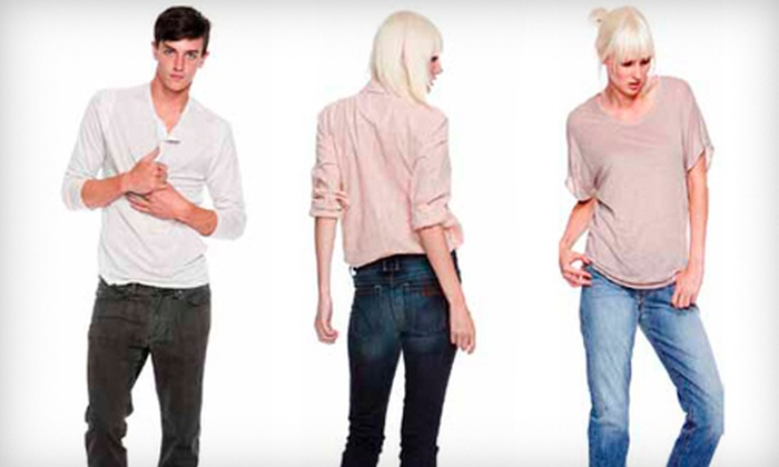 Queue & Sophia's - Strathcona: $30 for $60 Worth of Men's and Women's Apparel and Accessories at Queue & Sophia's