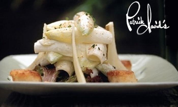 Patrick David's Restaurant - Danville: $25 for $50 Worth of Fine Dining and Drinks at Patrick David's Restaurant in Danville