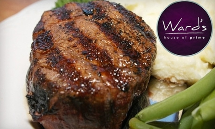 Ward's House of Prime - Juneau Town: $20 for $40 Worth of Steakhouse Fare at Ward's House of Prime