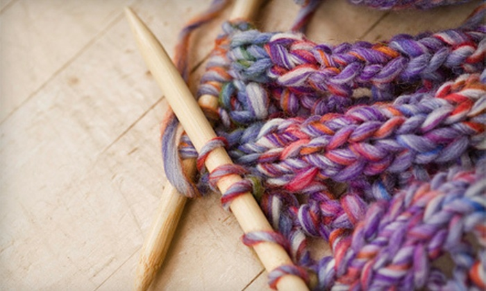 Friends and Fiber - East Louisville: Two-Hour Knitting Class or $10 for $20 Worth of Yarn and Knitting Supplies at Friends and Fiber in LaGrange