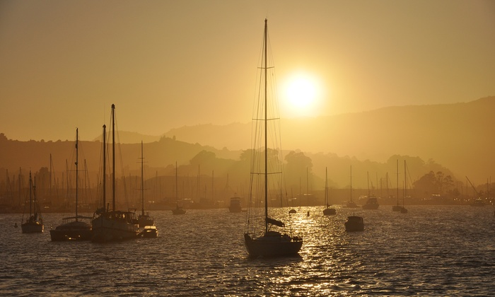 Red and White Fleet - Fisherman's Wharf: California Sunset Cruise with Appetizers for Two, Four, or Six from Red and White Fleet (50% Off)