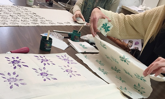 Uniquely Yours Boutique - Downtown St. Petersburg: Block-Printing Workshop with Champagne for One, Two, or Four at Uniquely Yours Boutique (Up 56% Off)