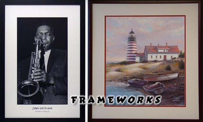 Frameworks - Bedford: $30 for $70 Worth of Custom Frames and Framed Pictures from Frameworks