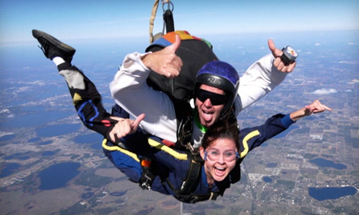 Florida Skydiving Center - Lake Wales: $130 for a Tandem Skydive from 14,000 Feet with a T-shirt from Florida Skydiving Center (Up to $219 Value)