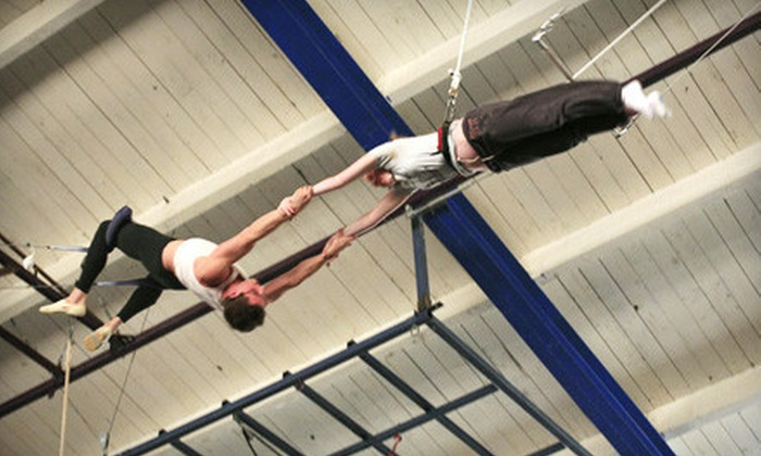 Trapeze Arts - Oakland : $35 for a Flying Trapeze Class and a Trampoline Class at Trapeze Arts in Oakland ($70 Value)