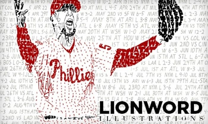 LIONWORD: $15 for a Philly Sports Poster from Lionword Illustrations ($30 Value)