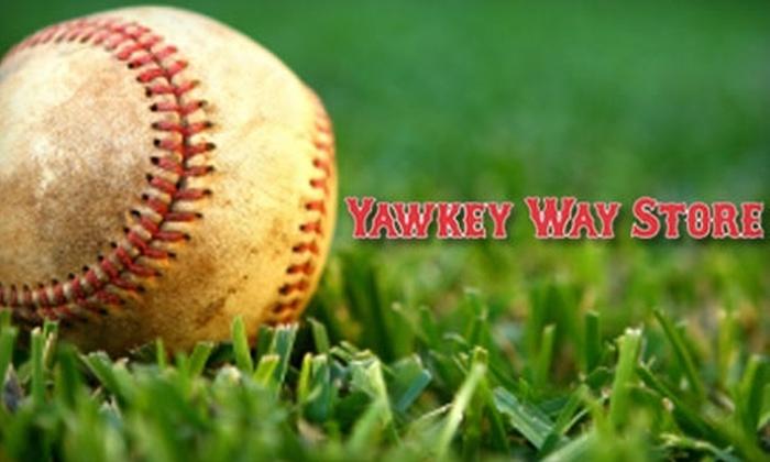 Yawkey Way Store - Boston: $20 for $40 Worth of Baseball Merchandise at Yawkey Way Store