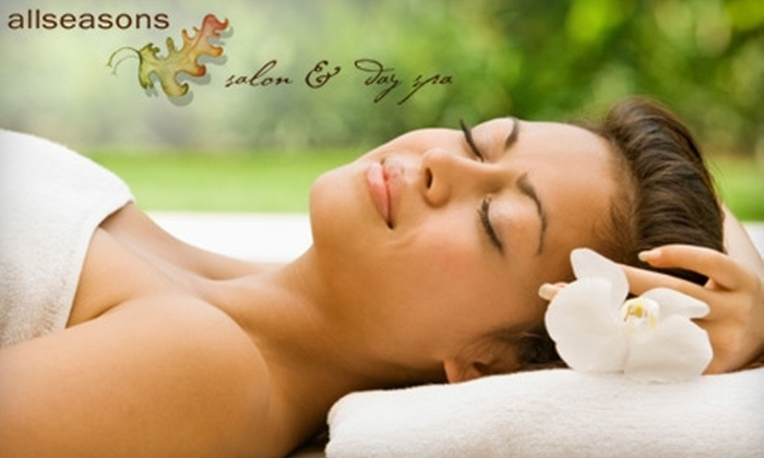 All Seasons Salon and Day Spa - Kennebunk: $62 for Spa-Sampler Package at All Seasons Salon and Day Spa ($125 Value) in Kennebunkport