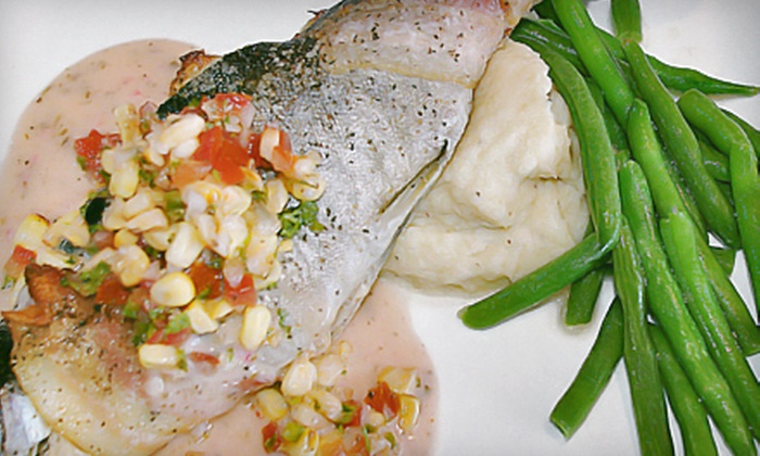 CoolWater Fusion Restaurant - North Easterns: American Dinner for Two or Four with Beer or Wine, or $10 for $20 Worth of Lunch Fare at CoolWater Fusion Restaurant