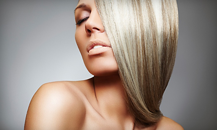 Illusions Hair Studio - Encinitas: $75 for a Brazilian Gloss Hair Treatment at Illusions Hair Studio in Encinitas ($199 Value)