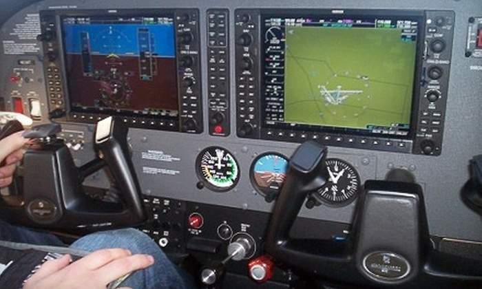 Fly Kalamazoo - Portage: $124 for an Introductory Flight Lesson, a Guided Tour, and Lunch from Fly Kalamazoo ($268 Value). Three Dates Available.