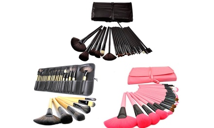 Professional Artisan Makeup Brush Set with Case (24-Piece)