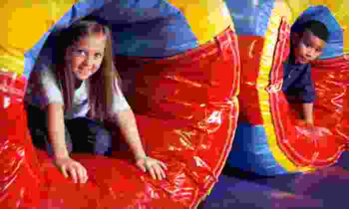 Pump It Up - Multiple Locations: Three Jump Sessions or One Month of Jump Sessions at Pump It Up (Up to 52% Off)