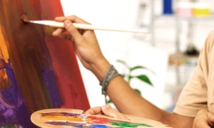Painting Class For One Or Two At Therapy A Paint And Sip Boutique (up To 54% Off)