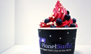 Planet Swirl: $7 for $14 or $7 for $14 Off Bill at Planet Swirl Frozen Yogurt