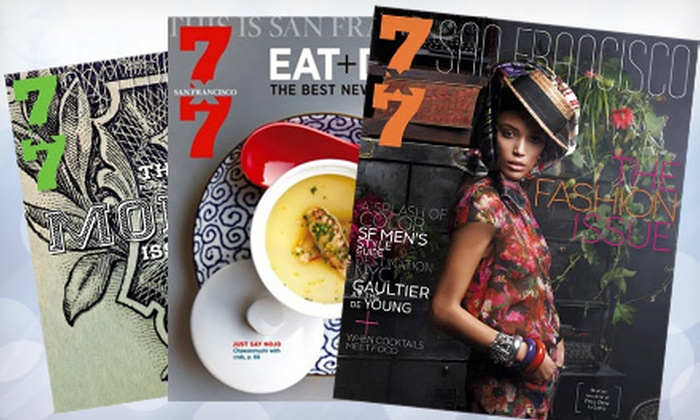 """7x7: $7 for a One-Year Subscription to """"7x7"""" Magazine with E-Newsletter ($15 Value)"""