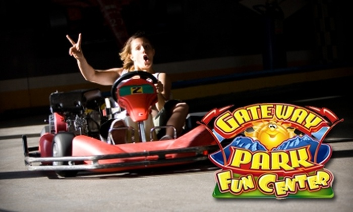 Gateway Park Fun Center - Boulder: $8 for One Round of Minigolf, One Go-Kart Ride, and 20 Arcade Tokens at Gateway Park Fun Center in Boulder