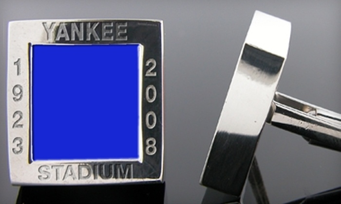 Stadium Cuffs: $85 for One Pair of Authentic Stadium Cuff Links from Stadium Cuffs (Up to $278.19 Value)