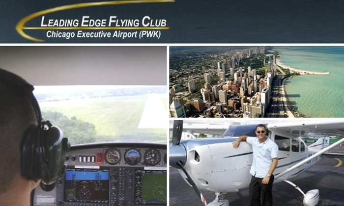 Leading Edge Flying Club - Prospect Heights: Today's Kamehachi Sushi Deal Has Sold Out. Instead, Try a $135 Flying Tour of Chicago from Exclusive Leading Edge Flying Club ($225 Value).