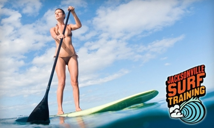 Jacksonville Surf Training - Jacksonville Beach: $42 for a Stand-Up Paddleboard Lesson at Jacksonville Surf Training ($85 Value)
