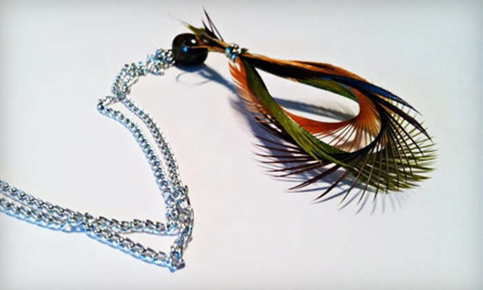 Stay Fluffed Feather Designs: $15 for $30 Worth of Feather Earrings, Extensions, and Accessories from Stay Fluffed Feather Designs