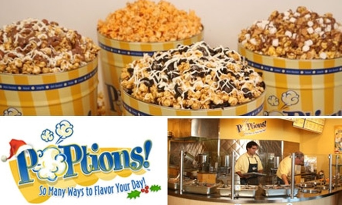 POPtions!: $15 for $30 Worth of Gourmet Popcorn and Half Off Shipping at POPtions!