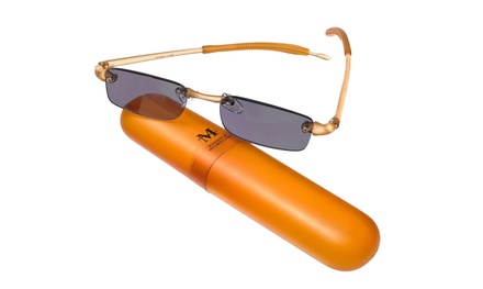 Madison & Mulholland Unisex Amber Sun Readers with Case