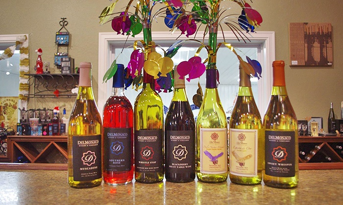 DelMonaco Winery & Vineyards - DelMonaco Winery & Vineyards: Wine Tastings for Two or Four with Signature Glass Per Person and Take Home Bottle of Wine Per Pair (38% Off)
