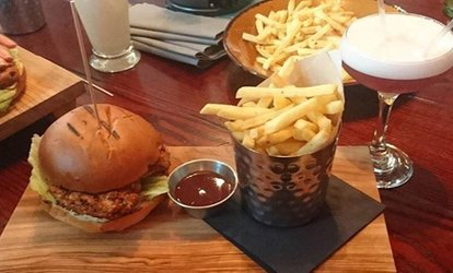 Pizza or Burger with Wine or Beer for Two or Four at The Woods (Up to 48% Off)