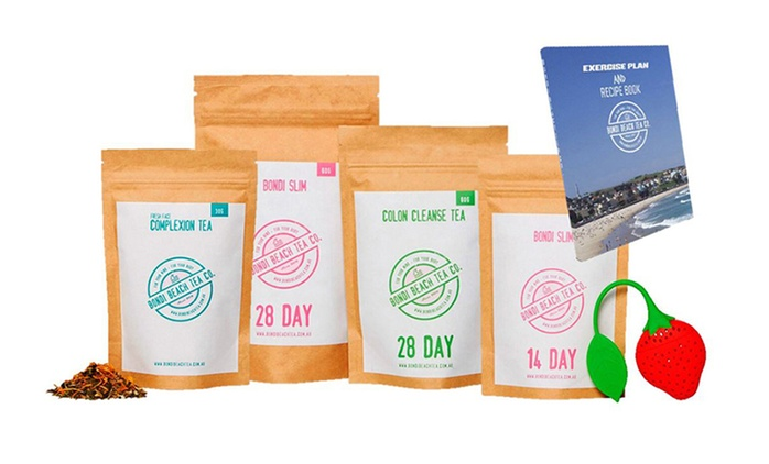 $14 for a 14-Day Bondi Beach Detox Tea and Health Pack with Recipe e-Book (Don't Pay $85)