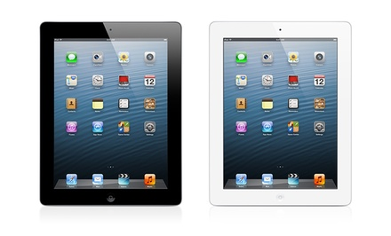Apple iPad 4 128GB with Retina Display, Wi-Fi & Cellular for Sprint & Verizon (Unlocked) in Black or White. Free Returns