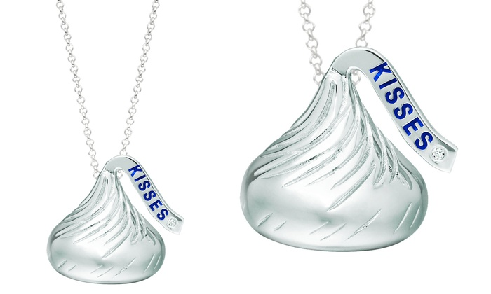 Hersheys kiss pendant groupon goods hersheys kiss diamond accent sterling silver pendant mozeypictures Image collections