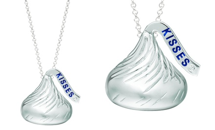 Hershey's Kiss Diamond-Accent Sterling Silver Pendant