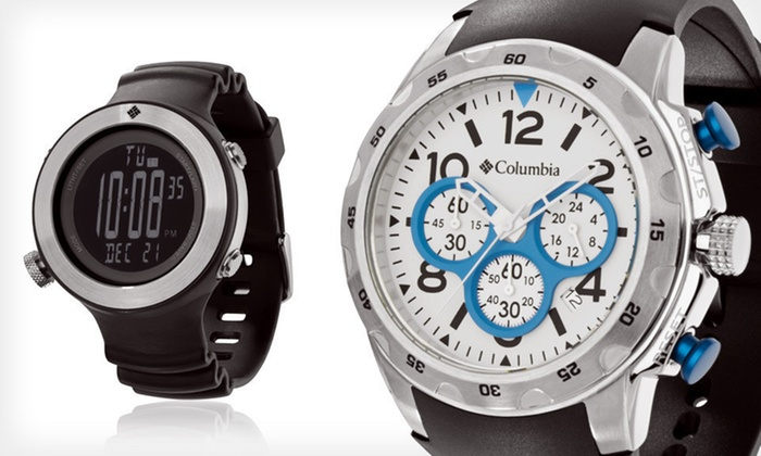 Columbia Men's and Unisex Watches: Columbia Men's Transit Watch or Unisex Tailwhip Watch (Up to 77% Off). Four Options Available. Free Shipping.