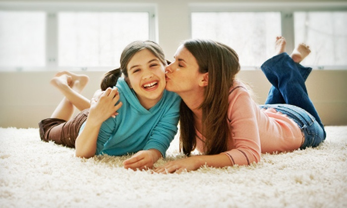 Super Steam - Pflugerville: $59 for Carpet Cleaning for Three Rooms from Austin SuperSteam Carpet & Tile Cleaners ($130 Value)
