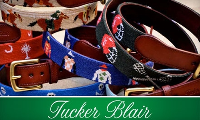 Tucker Blair: $20 for $50 Worth of Needlepoint Belts and More at Tucker Blair