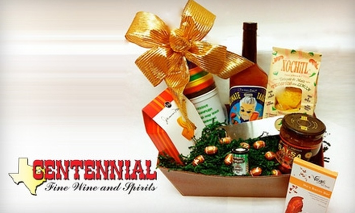 Centennial Fine Wine and Spirits - Multiple Locations: $39 for an Ultimate Tailgate Party Basket and $20 Gift Card at Centennial Fine Wine and Spirits ($80 Value)