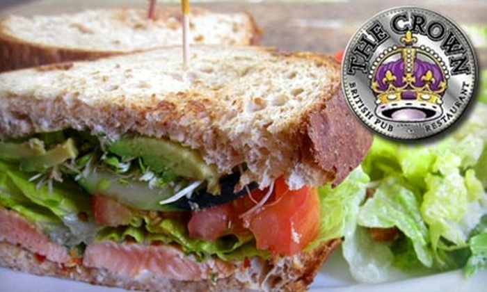 The Crown - Danville: $15 for $30 Worth of Pub Fare and Drinks at The Crown in Danville