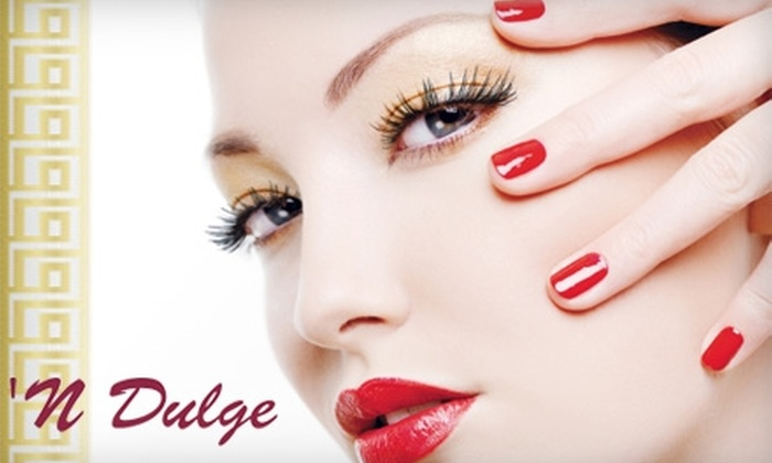 'N Dulge Day Spa and Salon - Multiple Locations: $37 for a Specialized Manicure and Pedicure (Up to $75 Value) or $40 for a European Facial and Eye Treatment (Up to $100 Value) at 'N Dulge Day Spa and Salon