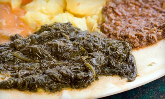 Abyssinia Ethiopian Restaurant - Hale: $12 for $25 Worth of Ethiopian Cuisine and Drinks at Abyssinia Ethiopian Restaurant