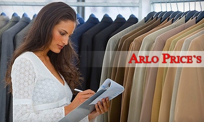 Arlo Price's $1.99 Any Garment Cleaners - Perry: $19 for 20 Garment Cleanings at Arlo Price's $1.99 Any Garment Cleaners