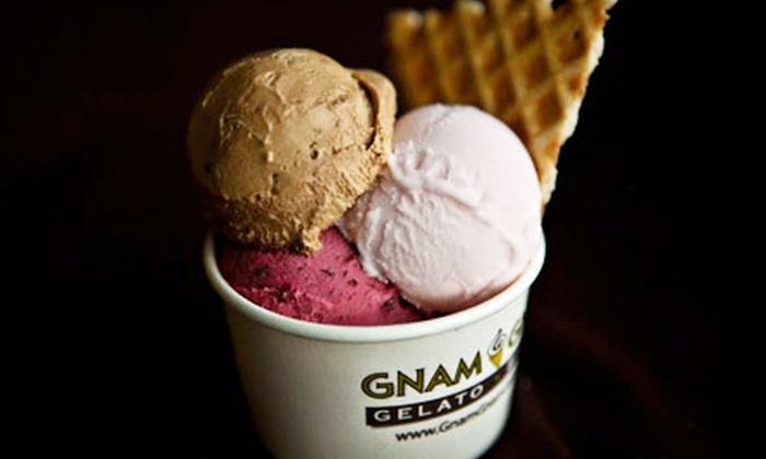 Gnam Gnam Gelato & Bistro - Greensboro: $5 for $10 or $15 for $30 Worth of Gelato and Bistro Fare at Gnam Gnam Gelato Bistro in Greensboro