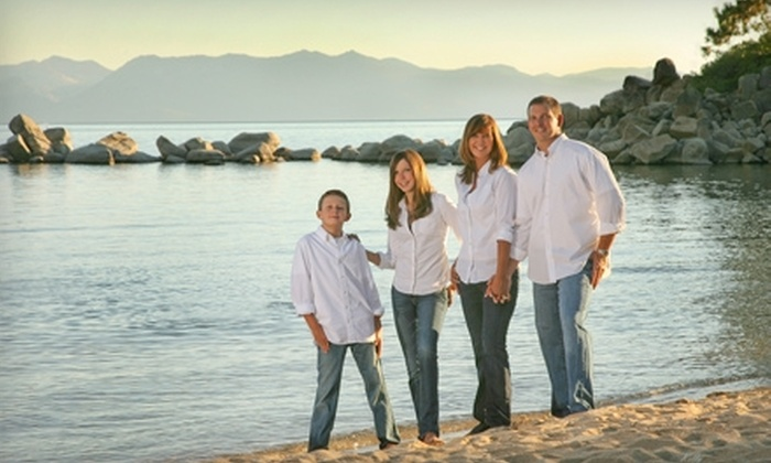 """Photoz by Kelly - Reno: $67 for Family Photo Shoot and One 8""""x10"""" Heritage Finish Print from Photoz by Kelly ($215 Value)"""