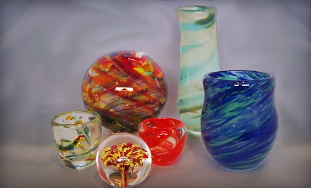 Three-Hour Introductory Glass-Blowing Workshop in Which Students Make a Shot Glass or Paperweight (a $130 value) - Agnes of Glass in Denver
