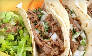 Los Cinco Puntos: Mexican Cuisine at Los Cinco Puntos (Up to 45% Off). Two Options Available.
