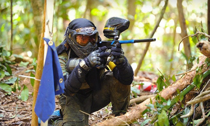 Bethel Battlefield - Bethel Paintball: $19 for an All-Day Paintball Package with Equipment at Bethel Battlefield ($44.90 Value)