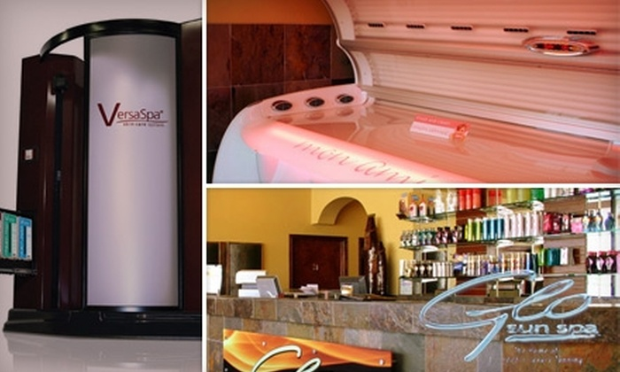 Glo Sun Spa - Multiple Locations: $26 for Two Hydration Station Sessions, Two Ultimate Versa Spa Spray Tan Sessions, and Two Lumiere Facials