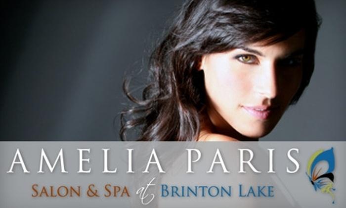 Amelia Paris Salon and Spa - Concord: $59 for a Massage, Facial, and Eyebrow Wax at Amelia Paris Salon and Spa