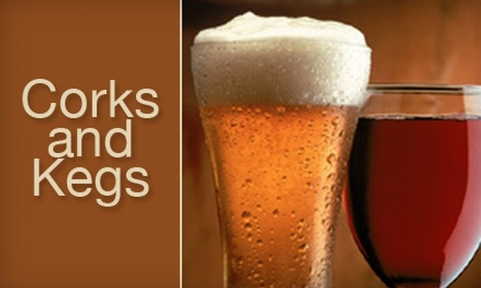 Corks & Kegs - Tuckahoe: $10 for $20 Worth of Fine Wine and Craft Beer at Corks & Kegs